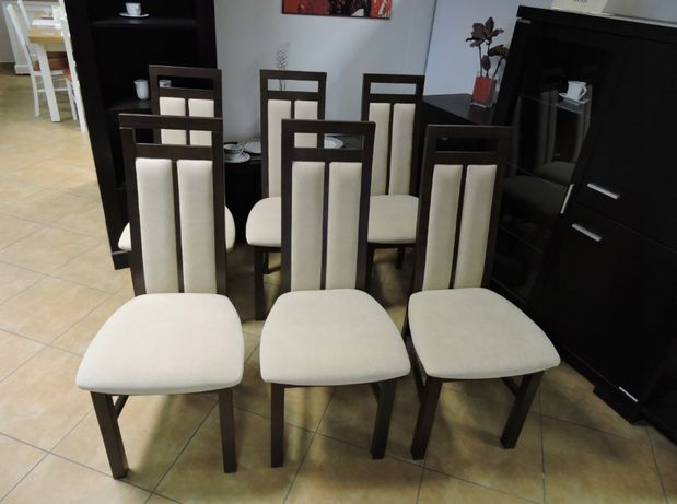 Wyprzedaż ekspozycji Krzesła NK 17A z poprzeczką 6 szt.