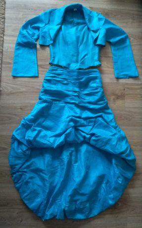 Sukienka dwuczęściowa z bolerkiem