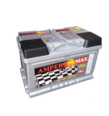 AMPER MAX Silver 75Ah 740A 3 lata gwarancji