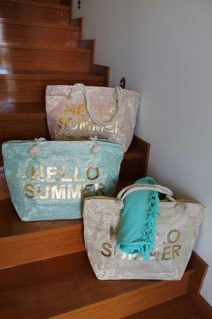 bolsa de praia hello summer nova coleçao girrissimas