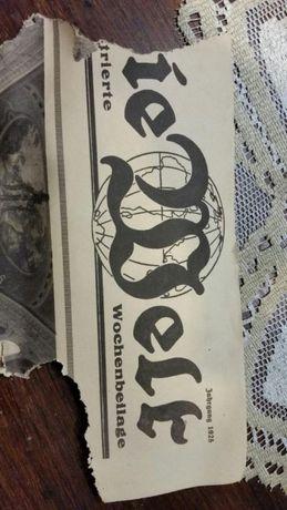 Gazeta Die Welt oryginał 1925r