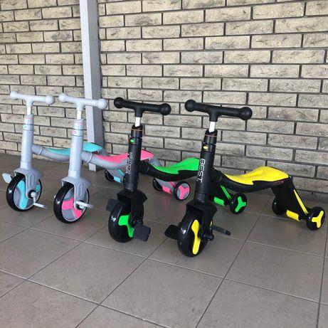 Велосипед Велобег Самокат 3в1 Велосамокат трансформер музыкальный