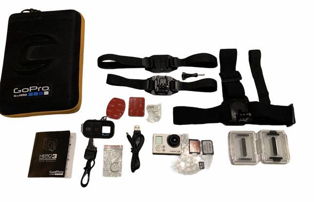 Kamerka GoPro Hero 3+bezprzewodowy pilot wifi+akcesoria
