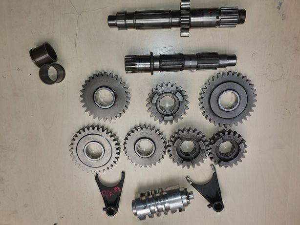 KTM SX EXC 520 400 SXF 450 525 zębatki skrzynia biegów wodziki wałek