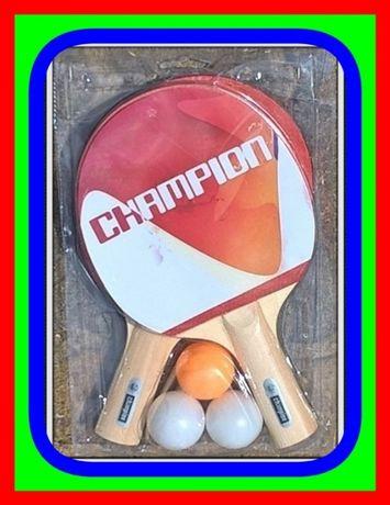 Zestaw do Tenisa Stołowego (Ping Pong) 2 Paletki Rakietki i 3 Piłeczki