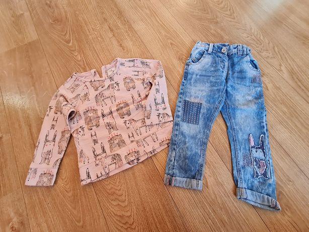 Next bluza jeansy 104, 3-4 lata, stan idealny