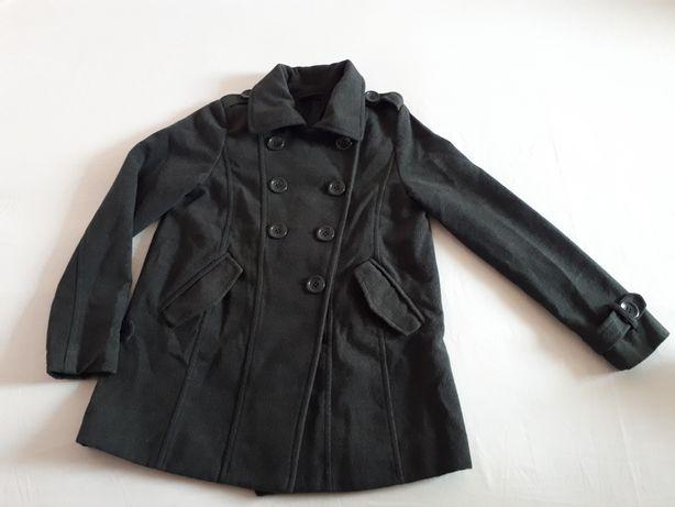OKAY szary płaszcz wełniany, kurtka jesienna zimowa