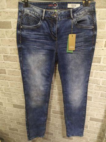 Spodnie jeans z lampasem