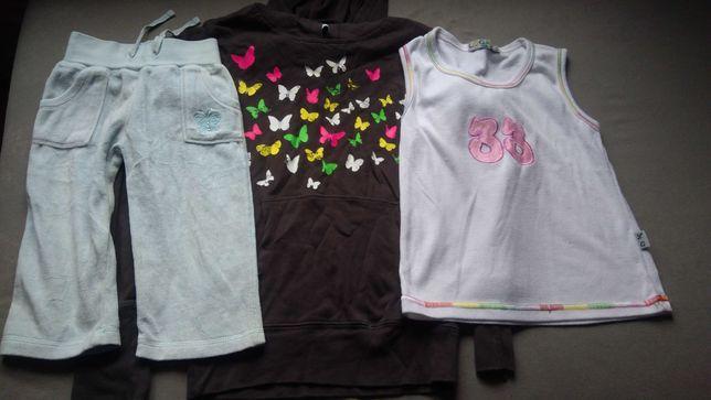 Ciuchy dla dziewczynki - spodnie, koszulka, bluzka