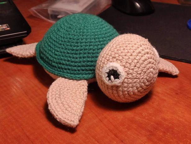 Żółw maskotka figurka na szydełku