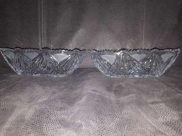 Ваза, конфетница, ладья (две штуки) (1970-е) Богемское стекло