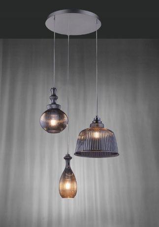 Nowoczesna lampa wiszące SCARLETT 8421-25 chrom szkło asymetryczne klo