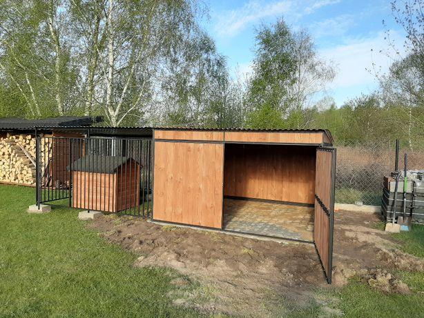 Kojec dla psa. Buda ocieplana. Zabudowy drewniane- schowki, drewutnie.
