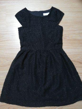 Śliczna elegancka czarna sukienka rozm 140 firmy COOLCLUB święta, bal