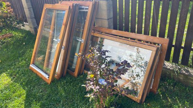 Drewniane okna z demontażu - kwatery 31 szt