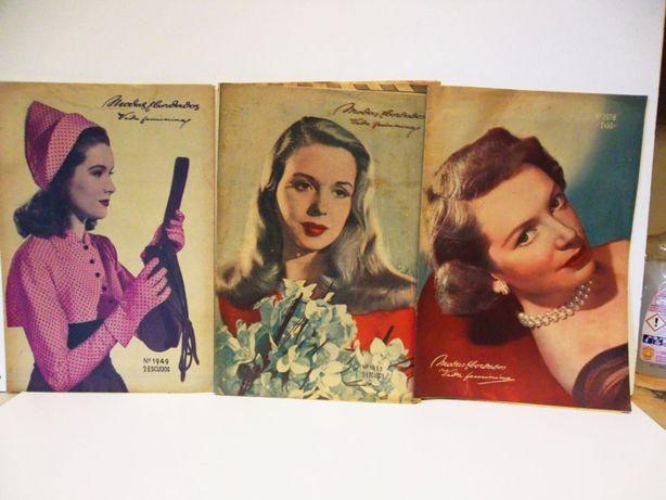 11 revistas vintage Modas & bordados vida feminina de 1949 até 1954