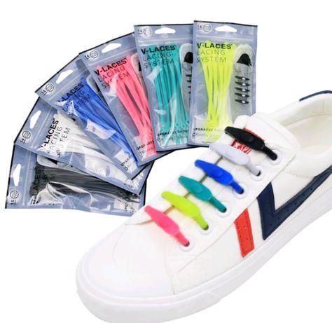 Силиконовые шнурки V-LACES для обуви, набор 14 шт