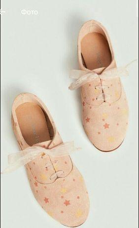 Новые фирменные Mango замшевые туфли ботиночки
