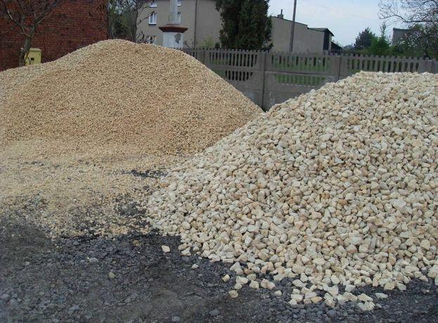 Kruszywo drogowe, grysy do betonu, piach, wapno nawozowe