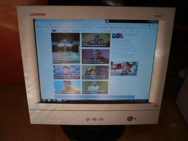 """monitor 15"""" płaski, compaq TFT5015 ,możliwa wysyłka"""