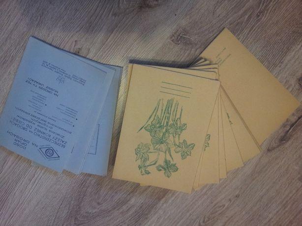 zeszyty z czasow prl-u . czyste . 32 i 62 kartkowe
