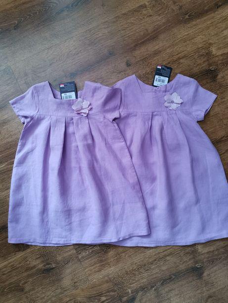 NOWA śliczna lniana sukienka GT rozmiar 104