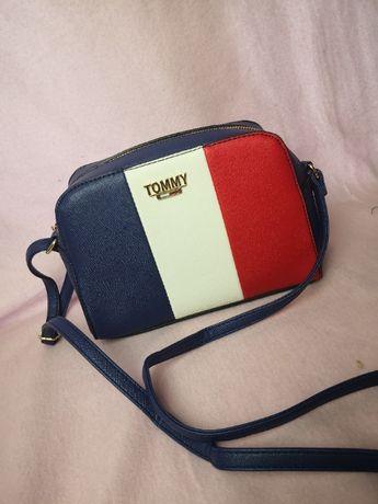 Torba kuferek damski Tommy Hilfiger trzykolor nowość torebka