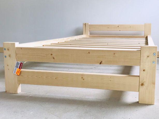 Łóżko Drewniane 90x200 ze stelażem Solidne Producent