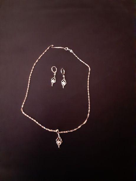 Komplet biżuterii srebrnej idealny na prezent. Możliwa wysyłka
