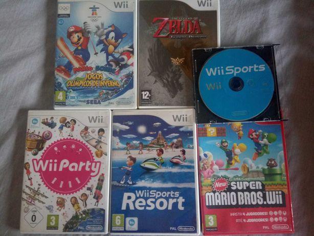 Jogos Wii(Mario sonic, Wii sports resort, Party, Zelda)