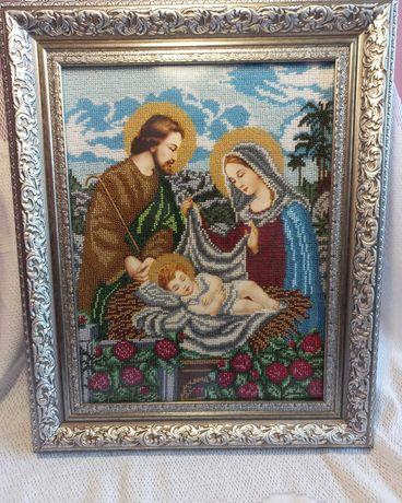 Ісус в колисці  бісеро