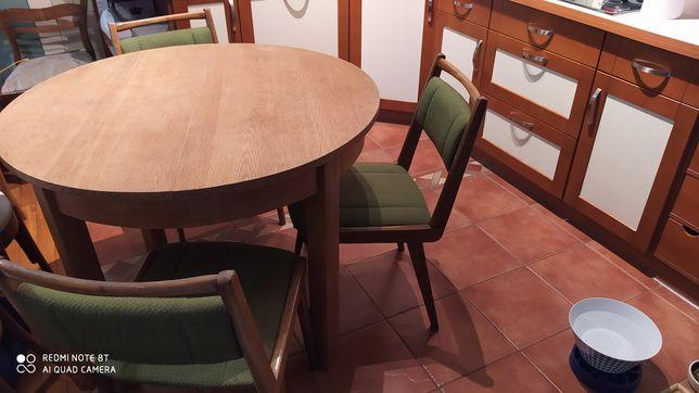 Super okazja!!! Stół+ 6 krzeseł z lat siedemdziesiątych