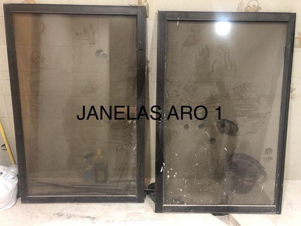 Janelas em aluminio de vidro duplo