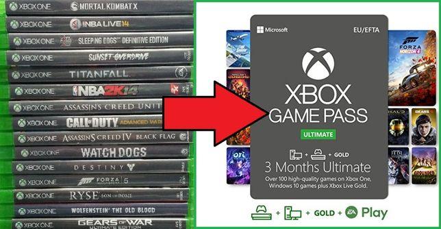 Обмен дисков Xbox One на Game Pass Ultimate по всей Украине!