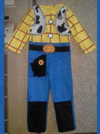 Карнавальный костюм Ковбой для мальчика 3 - 5 лет Шериф Вудди