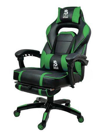 Fotel Gamingowy obrotowy do PS4 DEUS LARGE Green