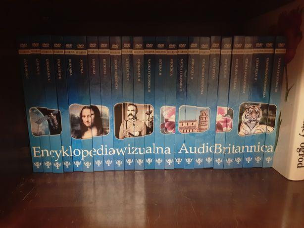 24 tomowa encyklopedia Britanica z płytami DVD.