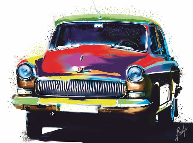 Картина Ретро авто поп арт