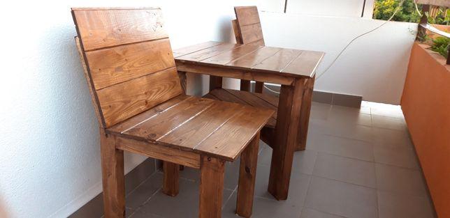 Komplet z drewna krzesła stół do ogrodu na balkon