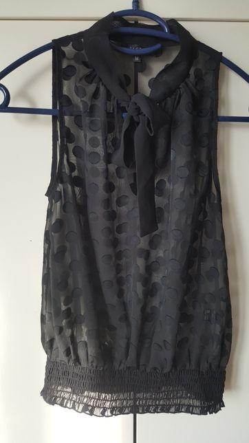 Czarna przeswitujaca bluzka S
