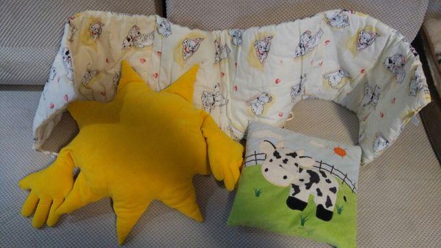 Ochraniacz do łóżeczka i poduszki