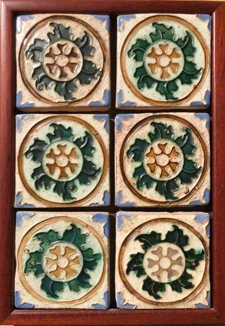 Painel azulejos rústico estilo espano árabe emoldurado