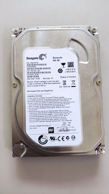 HDD 500 gb , жёсткий диск на 500гб Seagate /3,5/ sata2