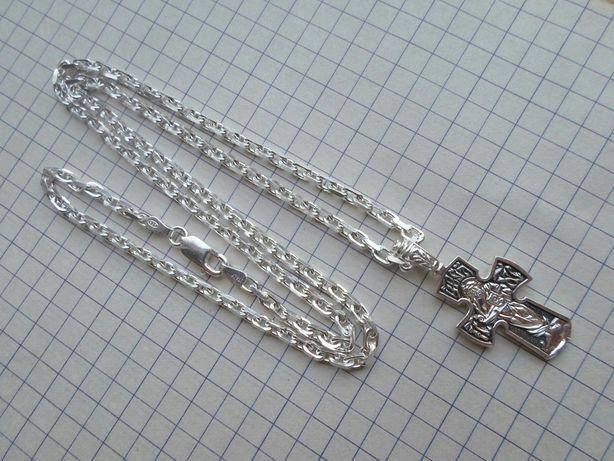 Новая Цепочка с крестиком 14,97 грамм ,серебро 925.