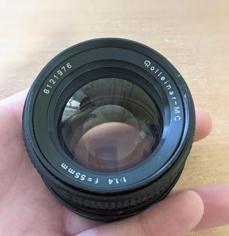 Об'єктив Rollei MC 55mm Zeiss f1.4 Rollei mount