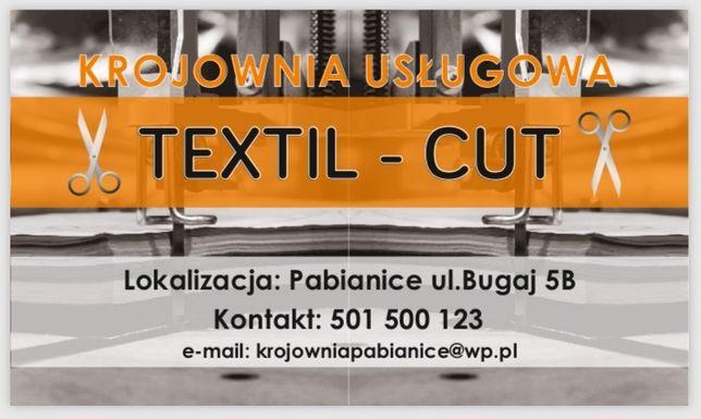"""Krojownia """"Textil-Cut"""" usługi Pabianice kombinezony fartuchy maseczki"""
