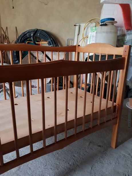 Детская деревянная кроватка 120×60