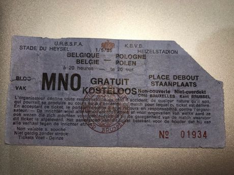Bilet Belgia - Polska 1985