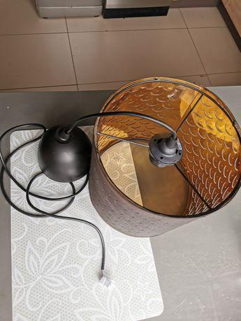 Klosz lampa Ikea czarno miedziany  razem z kablem