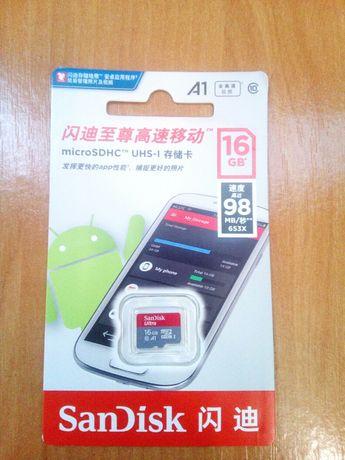 новая micro sd 16 gb
